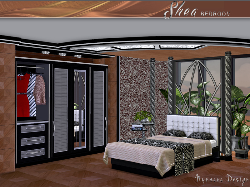 Nynaevedesign 39 s shea bedroom for Bedroom designs sims 4
