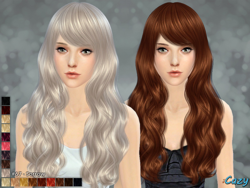 Cazy S Sorrow Hairstyle Sims 4