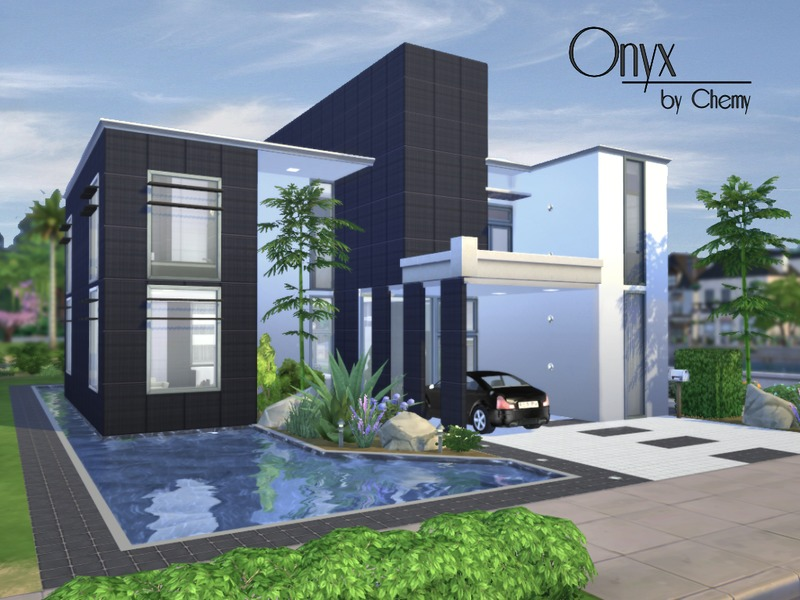 Chemy 39 s onyx modern for Minimalist house sims 3