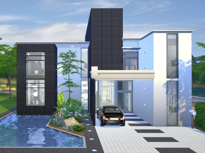 Chemy 39 s onyx modern for Modern house design the sims 3