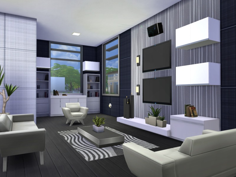Chemy 39 s onyx modern for Modern living room sims 4