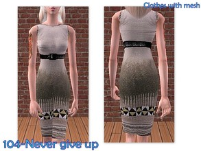 Sims 2 — 104-Never give up by Well_sims — Beautiful pencil dress for your sim.