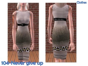 Sims 2 — 104-Never give up - only dress by Well_sims — Beautiful pencil dress for your sim. -Only dress.