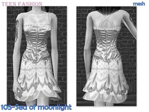 Sims 2 —  Mesh Biene Tf Summerdress Stufe160705 by Well_sims — Mesh for you.