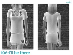 Sims 2 —  Peggy-adultbodymesh0001-050606-tshirtshortskirt by Well_sims — Mesh for you.