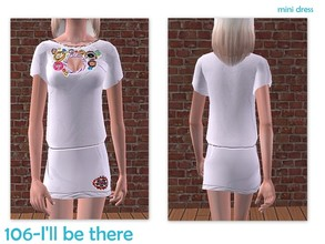 Sims 2 — 106-I\'ll be there - only mini dress by Well_sims — Beautiful mini white dress for your sim. -Only dress