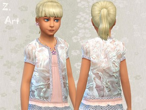 Sims 4 — Girls Cardigan by Zuckerschnute20 — Lace, ruffles and pearls that is all what little girls want to have :D