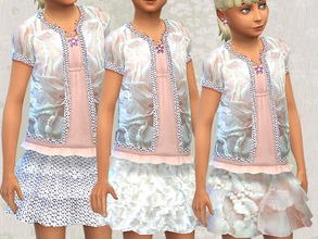 Sims 4 — Girls Skirt by Zuckerschnute20 — Skirt for little girls in three designs :D