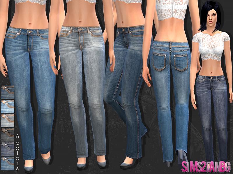 sims2fanbg's 22 - Female skinny jeans