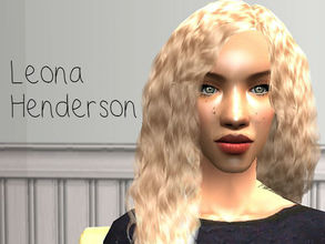 Sims 2 — Leona Henderson by renegaderunway — Leona is half Ghanaian and half German, and has come to terms with her