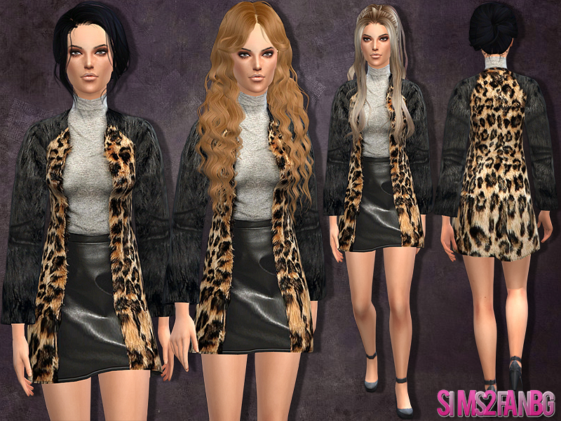 simpliciaty short fur jacket (acc) | sims 4 updates -♢ sims.