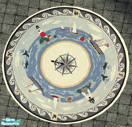 Simaddict99 S Nautical Patio Decor Round Rug