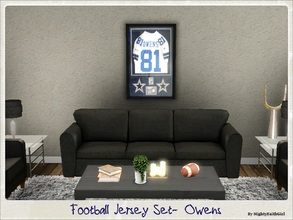 Sims 3 — Football Jersey Set- Owens by mightyfaithgirl — Sporty Sims of all ages will delight in this framed Jersey of