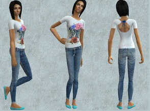 Sims 2 — Romantic teen outfit by grecadea2 — Jeans and a cute blouse inspired by greek brand attrattivo for your romantic