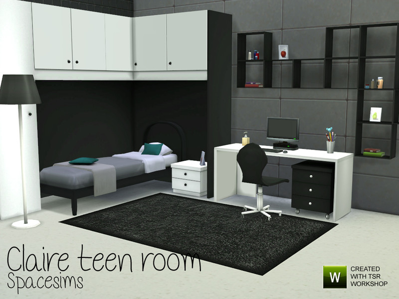 Spacesims' Claire Teen Room Sims 3 Schlafzimmer Modern
