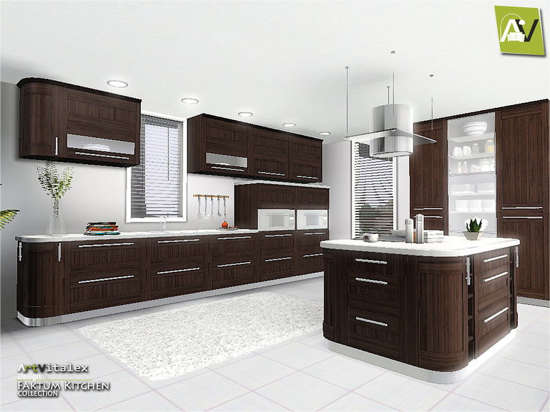 Artvitalex 39 s faktum kitchen for Sims 3 kitchen designs