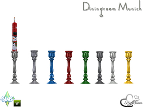 Sims 4 — Diningroom Munich Candleholder by BuffSumm — Part of the *Diningroom Munich for Sims 4* Candleholder to hold the