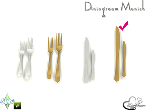 Sims 4 — Diningroom Munich Cutlery Large by BuffSumm — Part of the *Diningroom Munich for Sims 4*