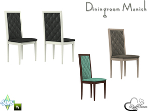 Sims 4 — Diningroom Munich Diningchair by BuffSumm — Part of the *Diningroom Munich for Sims 4*