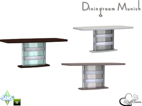 Sims 4 — Diningroom Munich Diningtable by BuffSumm — Part of the *Diningroom Munich for Sims 4*