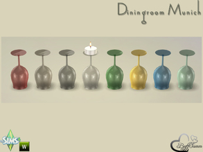 Sims 4 — Diningroom Munich Glas for Candle 2 by BuffSumm — Part of the *Diningroom Munich for Sims 4* To place the