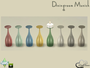 Sims 4 — Diningroom Munich Glas for Candle 3 by BuffSumm — Part of the *Diningroom Munich for Sims 4* To place the