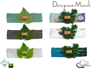 Sims 4 — Diningroom Munich Napkin by BuffSumm — Part of the *Diningroom Munich for Sims 4* Placeable on the Diningplate.