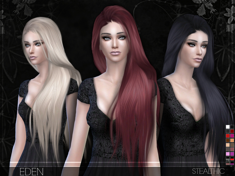 Симс 4 волосы