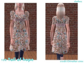 Sims 2 — 108-Tail of hope - only outfit  by Well_sims — Beautiful autumn outfit for your sim. -Only outfit