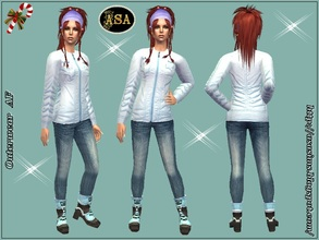 Sims 2 — ASA_Dress_283_AF by Gribko_Sveta — Light blue jacket with jeans for women TS2