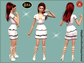 Sims 2 — ASA_Dress_288_AF by Gribko_Sveta — White dress with boots for women TS2
