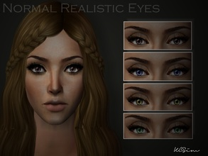 Sims 2 — Normal Realistic Eye Colours by KCsim — Remember to adjust your settings HIGH in the game for best results ^_^