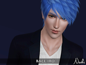 Sims 3 — Bace Iro by Nisuki — Iro Family - Bace Iro is clueless about what to do in the future. He's trying out all kinds