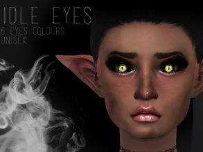 Sims 4 — IDLE EYES by Witch-Sims2 — CAT/NEKO EYES UNISEX (FOUND UNDER FACEPAINT) Comes in six different colours! :) Gold,