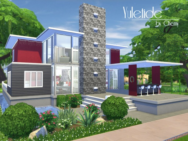 Chemy 39 s yuletide modern for Minimalist house the sims 4