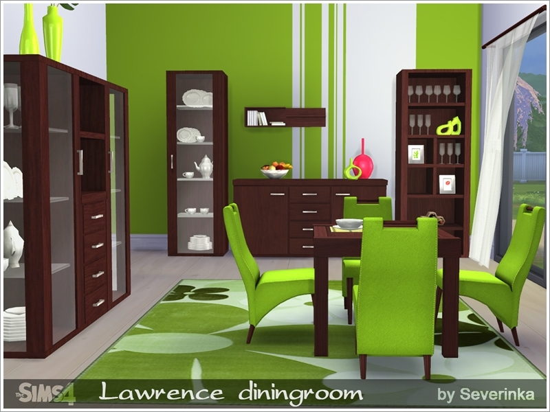 Severinka 39 s lawrence diningroom for Dining room ideas sims 4