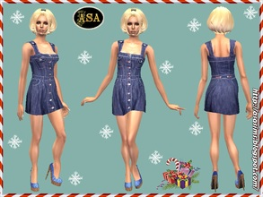 Sims 2 — ASA_Dress_291_AF by Gribko_Sveta — Jeans sundress for women TS2