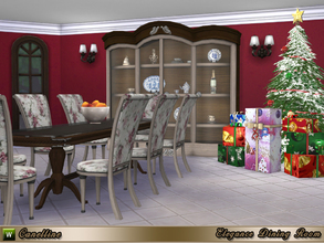 Sims 4 — Elegance Dining Room by Canelline — As special gift for Christmas, why don't get a complete room ? In this set