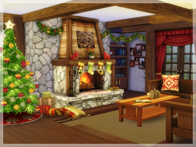Log Cabin Christmas.Arelien S Christmas Log Cabin