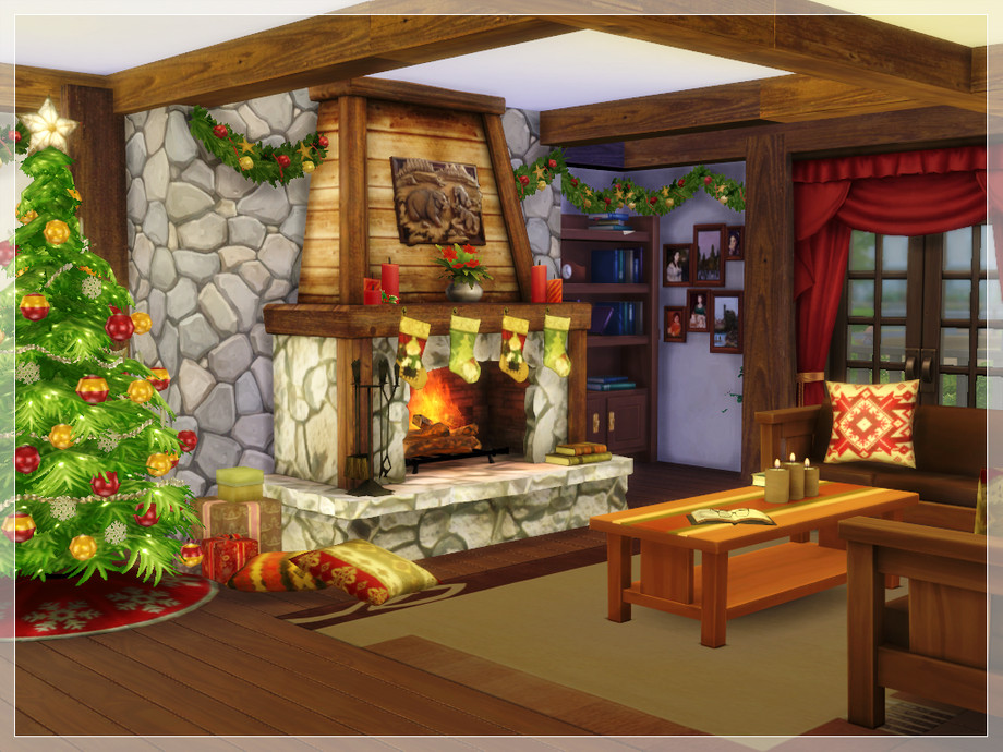 Arelien S Christmas Log Cabin