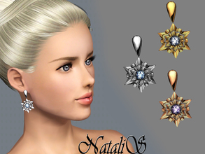 Sims 3 — NataliS_TS3 Shining snowflake earrings FA-FE by Natalis — Shining snowflake earrings will be the perfect piece