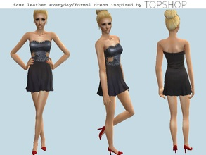 Sims 2 — Leather mini dress by grecadea2 — A faux leather minidress with studs, inspired by a Topshop dress. The mesh is