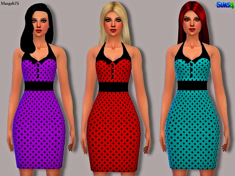 Sims 4 Retro Rockabilly Dress. TSR Archive s Sims 4 Retro Rockabilly Dress