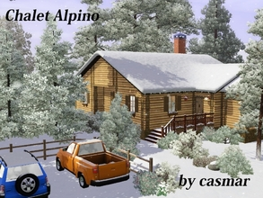 Sims 3 — Chalet Alpino by casmar — Nice mountain chalet for weekend getaways! It has two bedrooms, one master bedroom and