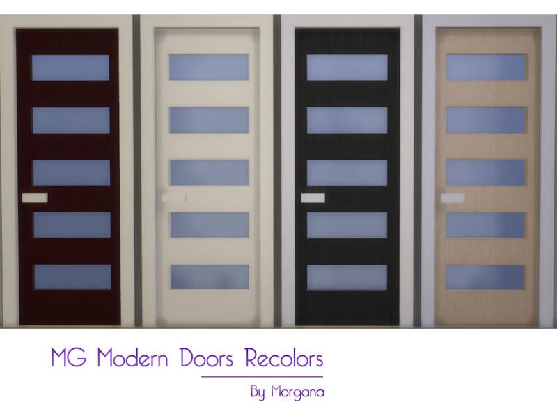 Morgana14s Mg Modern Doors Recolors