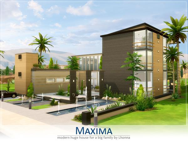 Lhonna 39 s maxima for The sims 4 house designs modern villa