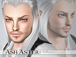 Sims 3 — Ash Aster by Pralinesims — Ash Aster, mysterious sim with silver hair and red eyes. You MUST install the