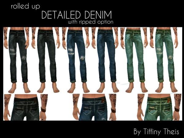 tiffybee s rolled up detailed denim