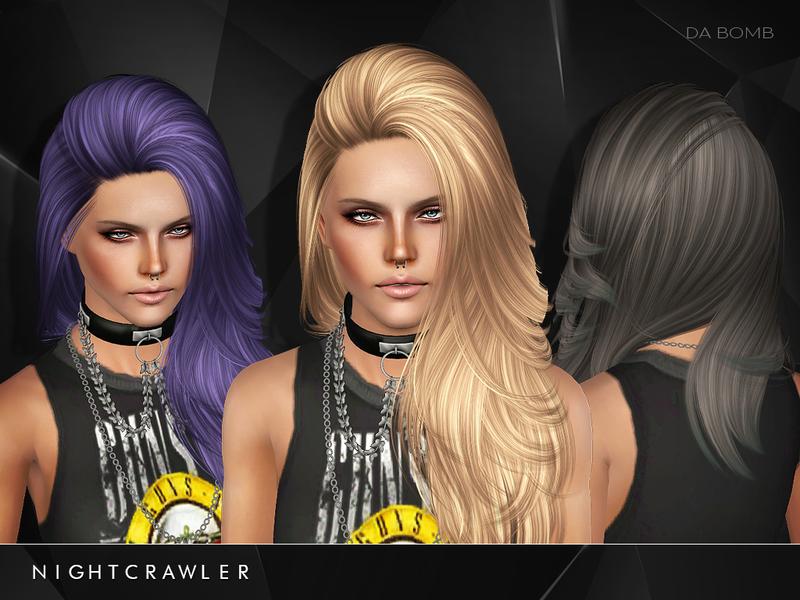 Hair Style Da: Nightcrawler Sims' Nightcrawler_S3-AF-Hair_Da Bomb