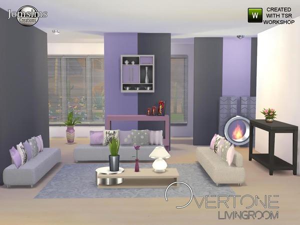 Jomsims 39 overtone living room for Modern living room sims 4
